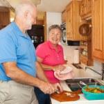 Senior RV - Helping in the Kitchen — Stock Photo #6555360