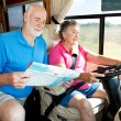 Stock Photo: RV Seniors - Husband Navigates