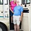 Stock Photo: Senior Travelers in RV