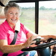 Stock Photo: Senior WomUsing GPS