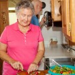 Seniors RV - Cooking — Stock Photo