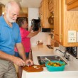 Stock Photo: Seniors RV - Preparing Meal