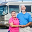 Seniors and Luxury Motor Home - Lizenzfreies Foto