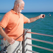 Ready to Bait Fishing Hook - Stock Photo