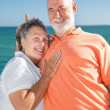 Senior Couple - Rabbit Ears — Stock Photo
