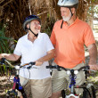 Senior Cyclists In Love — Stock Photo