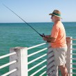 Stock Photo: Senior Fisherman Vertical