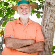 Senior Man in Shade — Stock Photo