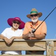 Senior Sun Protection — Stockfoto
