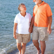 Stock Photo: Seniors - Romance on the Beach