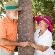 Seniors Playing Peekaboo — Stock Photo