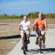 Seniors Riding Bicycles — Stock Photo