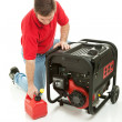Gasoline Powered Generator - Stock Photo