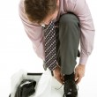 Man Trying on Shoes — Stock Photo