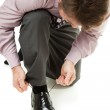 Putting on Shoes — Stock Photo #6555783