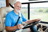 RV Senior - Navigating with GPS — Stock Photo