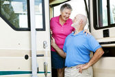 RV Senior Couple in Love — Stock Photo