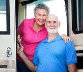 RV Senior Couple — Stock Photo