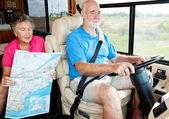 Anziani RV - backseat driver — Foto Stock