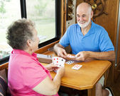 RV Seniors - Card Game — Stock Photo
