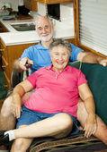 RV Seniors - Channel Surfing — Stock Photo
