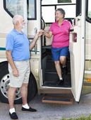 RV Seniors - Chivalry — Stock Photo