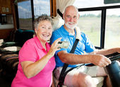 RV Seniors - Tech Savvy — Stock Photo
