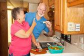 Seniors RV - Hungry Hubby — Stock Photo