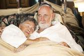 Sleeping Senior Couple — Stock Photo