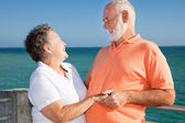 Romantic Senior Getaway — Stock Photo