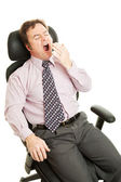 Bored Sleepy Businessman — Stock Photo