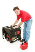 Fueling the Generator — Stock Photo