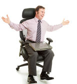 Spinning in Ergonomic Chair — Stock Photo