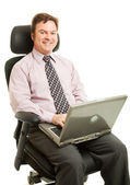 Working in Ergonomic Chair — Stock Photo