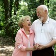 Active Senior Couple with Copyspace — Stock Photo