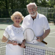 Active Senior Tennis Players — Stock Photo #6574621
