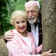 Happy Seniors in Park — Stock Photo