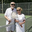 On the Tennis Court — Stock Photo