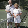 Senior Tennis Couple Full View — Stock Photo #6574659
