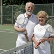 Stock Photo: Senior Tennis Players
