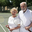 Stock Photo: Two For Tennis