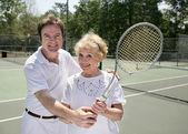 Tenis dersi — Stok fotoğraf
