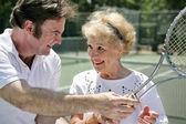 Tennis Lessons Are Fun — Stock Photo