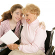 Greeting for Grandma — Stock Photo