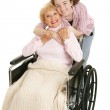 Hug For Grandmother — Stock Photo
