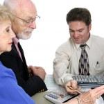 Accounting Series - Senior Finances — Stock Photo