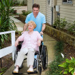 Arriving at the Nursing Home - Stock Photo