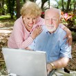 Royalty-Free Stock Photo: Computer Savvy Seniors