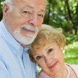 Devoted Senior Couple — Stock Photo
