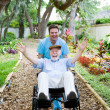Disabled Senior - Fun — Stock Photo #6596654